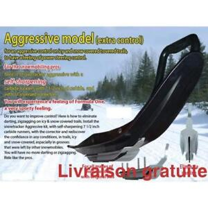 Snowtracker agressif Lisse + U-Blade  '' Pro-Steer, Pro-Float ''  Polaris