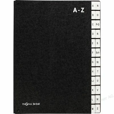 Pultordner A4 A-Z 1-31 1-12 schwarz Hartpappe  Unterschriftenmappe  Vorordner