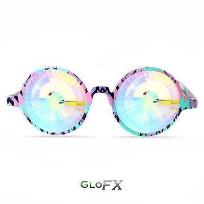339b06645c GloFX Aztec Kaleidoscope Glasses – Rainbow Wormhole Aztec Style Printed  Frame
