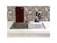Taylor & Moore Single Bowl Right Hand Drainer Stainless Steel Kitchen Sink
