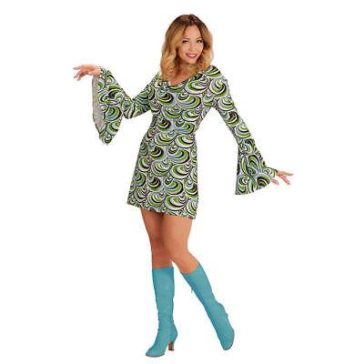 Damen-Kostüm Kleid Waves, schönes Hippiekleid mit 70er-Muster für - Hippie Kostüm Muster