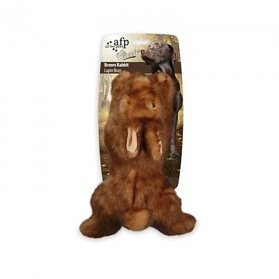 (All For Paws CLASSIC BROWN RABBIT Dog Toy Realistic Squeaker SMALL Eco Friendly)