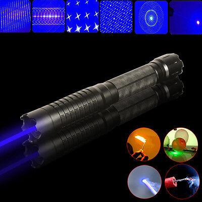 Thor M 445nm 450nm Adjustable High Power Blue Laser Pointer Torch BURN Match