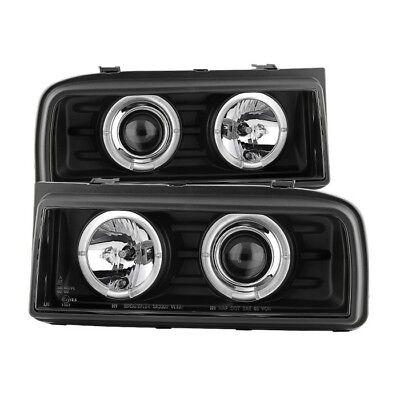 Spyder Black Projector Headlights - LED Halo for 90-95 Volkswagen Corrado  Corrado Halo Projector Headlights