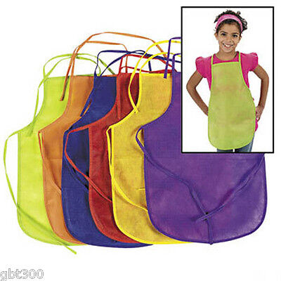 24 Kids Aprons Smocks Cooking Party Favor Lot Child Painting Crafts - Cooking Party Favors