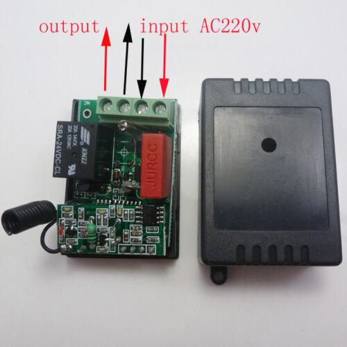 1 Channels 220V RF Wireless Controller 433.92MHZ Wireless Receiver