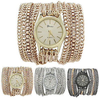 Latest Popular Hawaiian Style Sparkling Quartz Manual Chain Watch Watches  Gift