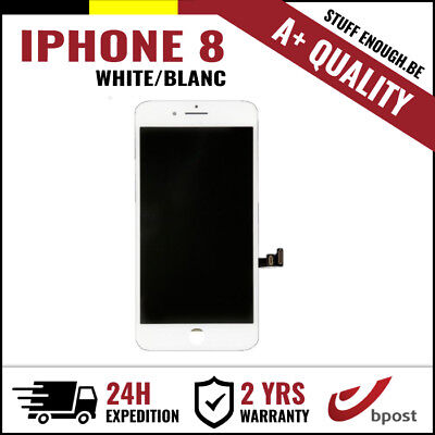A+ LCD TOUCH SCREEN VITRE TACTILE DISPLAY/SCHERM/ÉCRAN WHITE BLANC FOR IPHONE 8