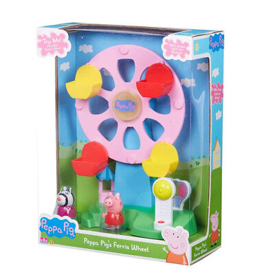 New Peppa Pig Ferris Wheel With Light & Sound Includes Peppa & Zoe Figures ()