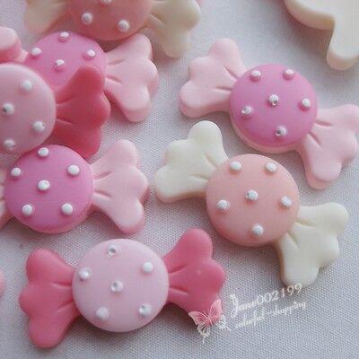 30pcs Upick Resin Candy Flatback Buttons DIY Scrapbooking Craft Flat Backs