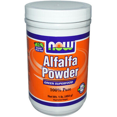 Now Foods ALFALFA Green Superfood Vegan Powder - 1 lb, 45 Servings Non-GMO