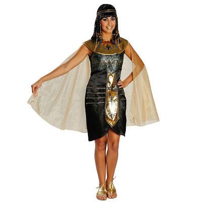 Damen Kostüm Ägypterin schwarz-gold Kleopatra Pharao Ägypten