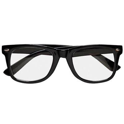 Brille fürs Kostüm mit breitem Gestell, schwarz
