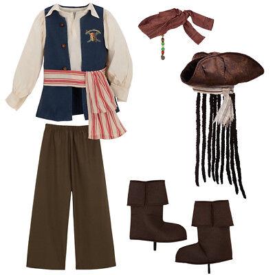 Disney Pirates of the Caribbean CAPTAIN JACK SPARROW Costume Size M Boys >NEW< - Pirates Of Caribbean Costume