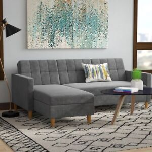 Reversible sleeper sectional with storage