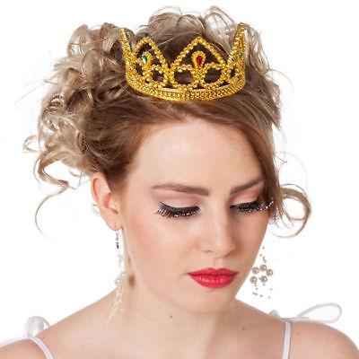 Diadem Prinzessin, gold Krönchen Kostümzubehör Krone Königin Prinzessinkostüm
