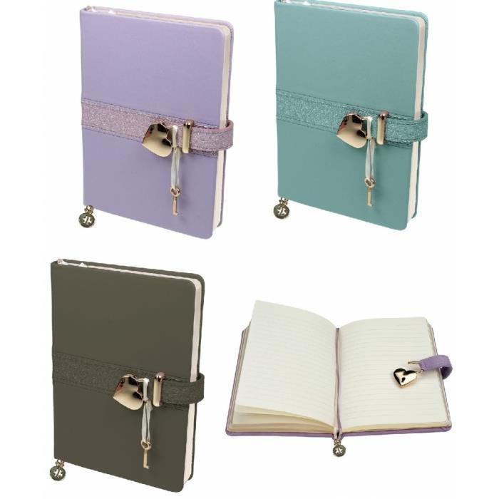 Tagebuch Matt & Shiny mit Schloß 19 x 14 cm, 320 linierte Seiten