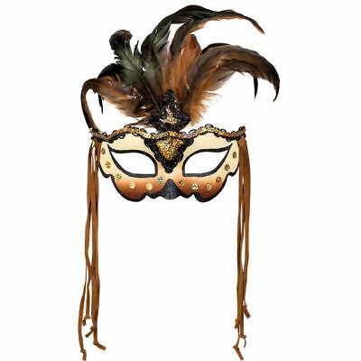 t Federn und Schmucksteinen für Maskenball und Karneval (Voodoo Maske)