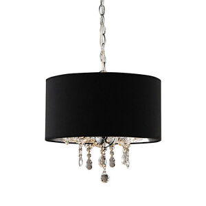 HOUSE OF TIFFANY CHROME & CRYSTAL CHANDELIER