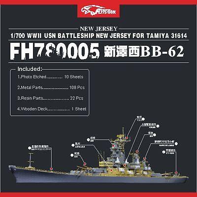 Ship Vessels Detail Update PE 1//350 302 Battleship New Jersey BB-62 for TAMIYA