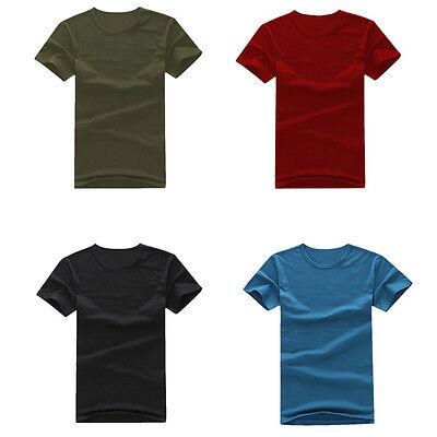 Newest Mens Summer Pure Color Short Sleeved T-Shirt Cotton Short Sleeved Shirt
