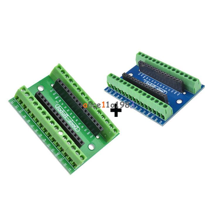 2PCS Nano V3.0 AVR ATMEGA328P-AU Module Terminal Adapter Board For Arduino
