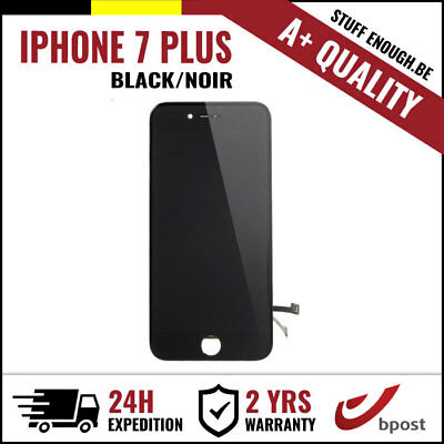 A+ LCD TOUCH SCREEN VITRE TACTILE DISPLAY SCHERM ÉCRAN BLACK NOIR IPHONE 7 PLUS