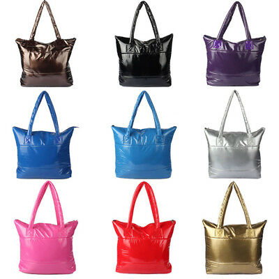 1PC Fashion Women Girl Space Bale Cotton Totes Handbag Feather Down Shoulder -