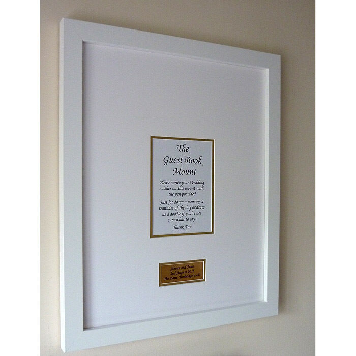 Luxury SILVER Personalised Baroque style Wedding Guest Book Frame ...