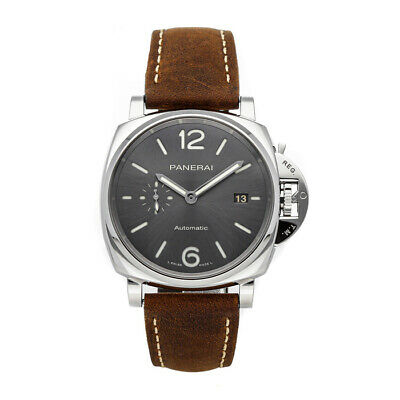 Panerai Luminor Due 3-Days Auto 42mm Steel Mens Strap Watch Date PAM 904