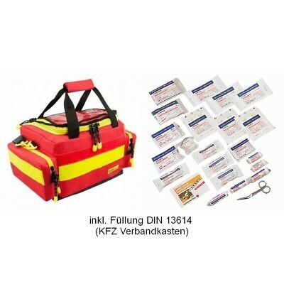 Notfalltasche M mit FÜLLUNG DIN 13164 KFZ Verbandkasten Notfall DRK