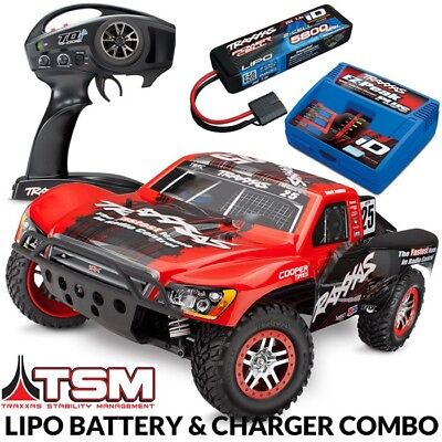 NEW Traxxas Slash 4x4 VXL Brushless RTR Short Course RC Truck LIPO COMBO PACKAGE