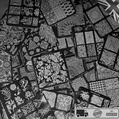 10pcs Design Nail art Stamper Plate Nails Art Image Stamp Stamping -