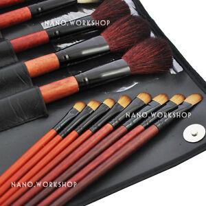 31-PCS-BLACK-Makeup-Brush-Set-Cosmetic-Brushes-Make-up-Kit-W-Pouch-Bag-Case-349