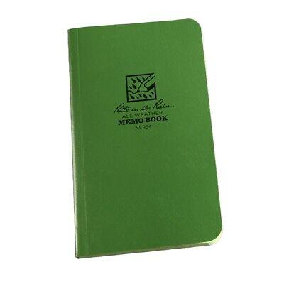 Rite In The Rain 964 All-weather Field-flex Memo Book Green 3.5 X 6