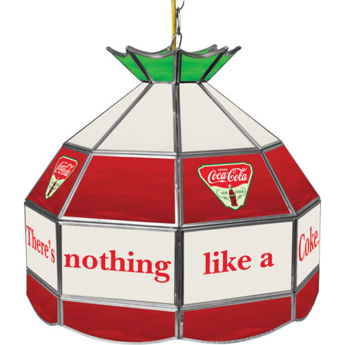 "Coca Cola Billiard Pool Light 16"" Tiffany Style Dining Room Hanging Coke Lamp"
