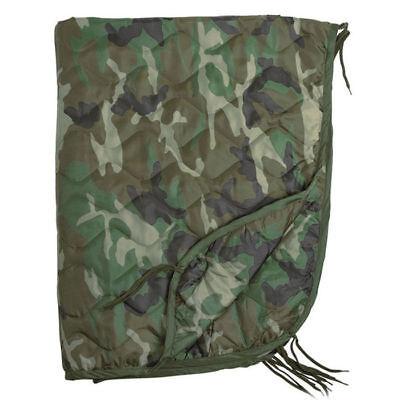 Mil-Tec US Army PONCHO LINER Travel Blanket 210 x 150 cm Woodland Camo Woodland Camo Poncho Liner