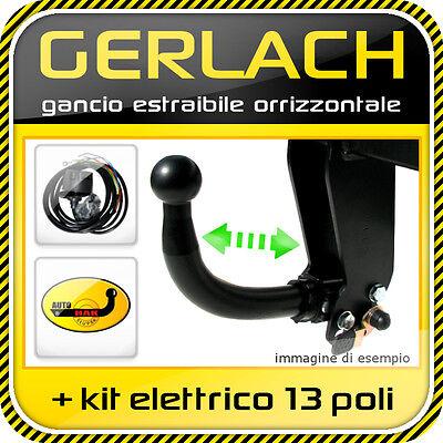 Ford Fiesta 2002-2008 gancio di traino estraibile + kit elettrico 13 poli