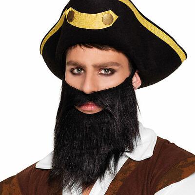 NEU Bart Piraten-Vollbart, schwarz Fakebart Kostümbart Karneval - Volle Piraten Kostüm