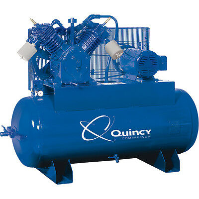 Quincy Qt-15 Pro15hp Splash Lubricated Piston Air Compressor 230 Volt 3 Phase