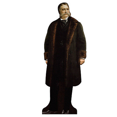 H25021 Chester Alan Arthur Cardboard Cutout Standup - Alan Party Supplies