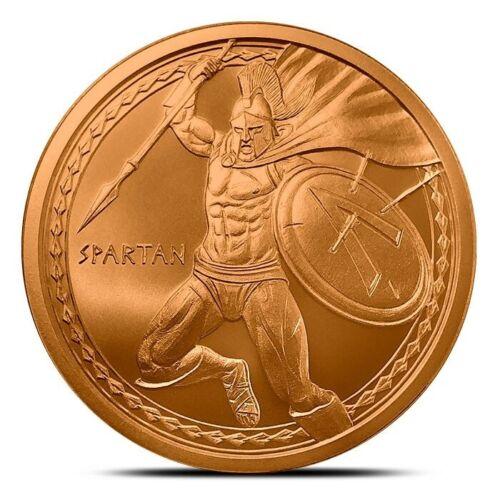 1 oz Copper Round - Spartan