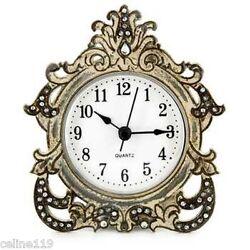 Antique Gray Decorative Table Clock Home Shop Office.