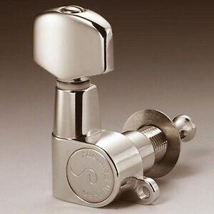 Schaller M6 Mini tuners/machine heads, 3x3 Nickel, 10040123