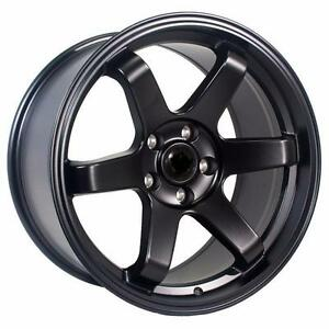 TE37 style 18x9.5 5x114.3 +22 offset EVO 9 or evo X fitment 750 for 4