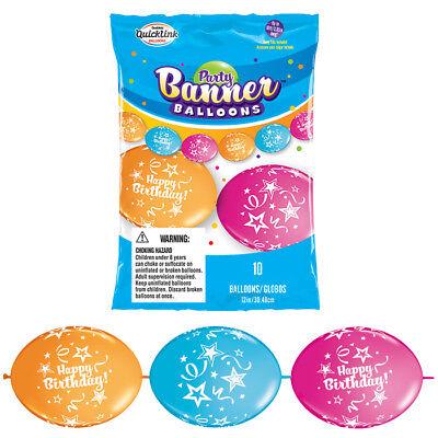 Create Birthday Banner (Happy Birthday Party Balloon Create Balloon Banner Qualatex Quicklink)