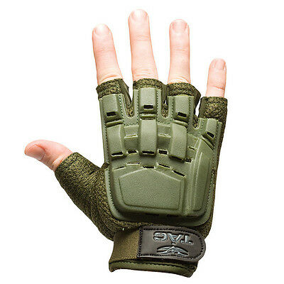 Valken Paintball Airsoft Half Finger Gloves Protection Olive X-Small/Small XS/S
