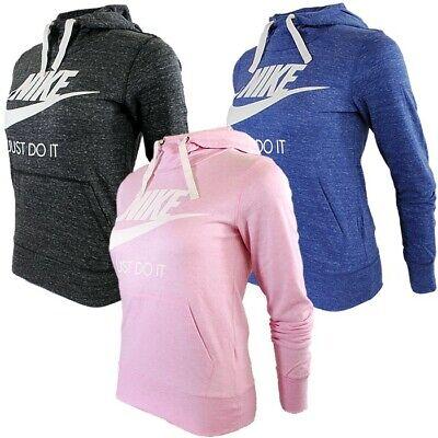 Nike M NSW GYM Damen Kapuzenpullover anthrazit blau pink Hoodie Sportswear NEU Nike Damen Pullover