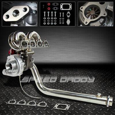 Crx Turbo Kits - T3 TURBO CHARGER KIT+RAM HORN MANIFOLD+DOWNPIPE+WG 88-00 CIVIC CRX D15 D16 EJ EK