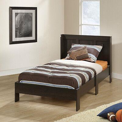 New Twin Platform Bed Frame With Headboard Cinnamon Cherry Bedroom Furniture